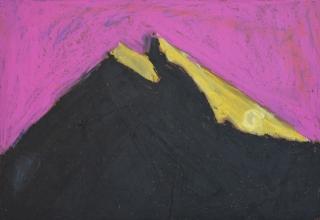 Anjas fjell (2) oljepastell inspirert av Kleiva